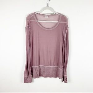 ABound Thin Waffle Knit Long Sleeve Top